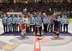 Glad to be part of the Barrie Minor Hockey Association's Bantam AA team being recognized as Ontario Champs at the OHL Barrie Colts game on April 23 in the pre-game ceremony and puck drop.