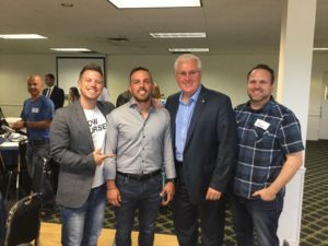 Too Big To Fail Roundtable with the Barrie Chamber of Commerce on July 26. With entrepreneurs Jimmy and Ty (Tyger Shark) and Chad Ballantyne.