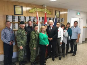 Thank you IPSC, JPSU, OSI Social Support, VAC and CFB Borden Base Commander McGarry for informative meeting on November 9.