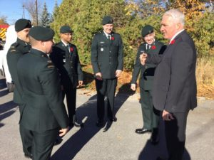 Lefroy/Belle Ewart Legion Br. 547 Remembrance Day Service on November 6.