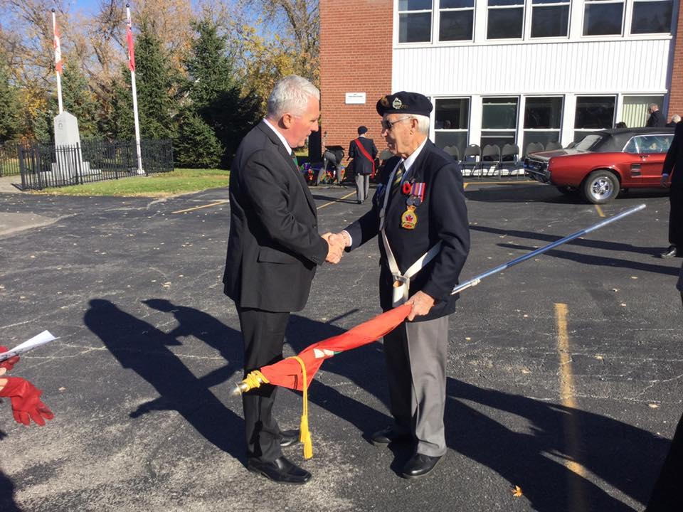 Lefroy/Belle Ewart Legion Br. 547 Remembrance Day Service on November 6.