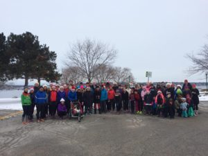 At the 3rd Santa Helpers Run at the Barrie Waterfront collecting toys for kids on December 11.