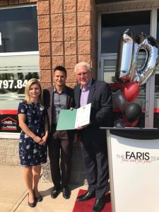 Mark, Joanna and entire Faris Team celebrate 10 yrs of business success on September 14.