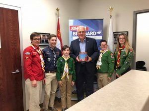 With local Barrie Innisfil Scouts on October 12.