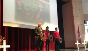 I was pleased to participate in Bear Creek Secondary School's Remembrance Ceremony on November 10 to honour the fallen, our veterans and those who serve.
