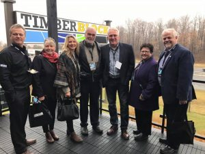 Local Innisfil business Timber Block announced a partnership with Mike Holmes on November 18 for their incredible line of homes. I was glad to be there with Town of Innisfil Mayor and Council.