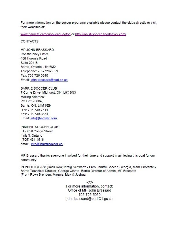 Soccer Press Release 2