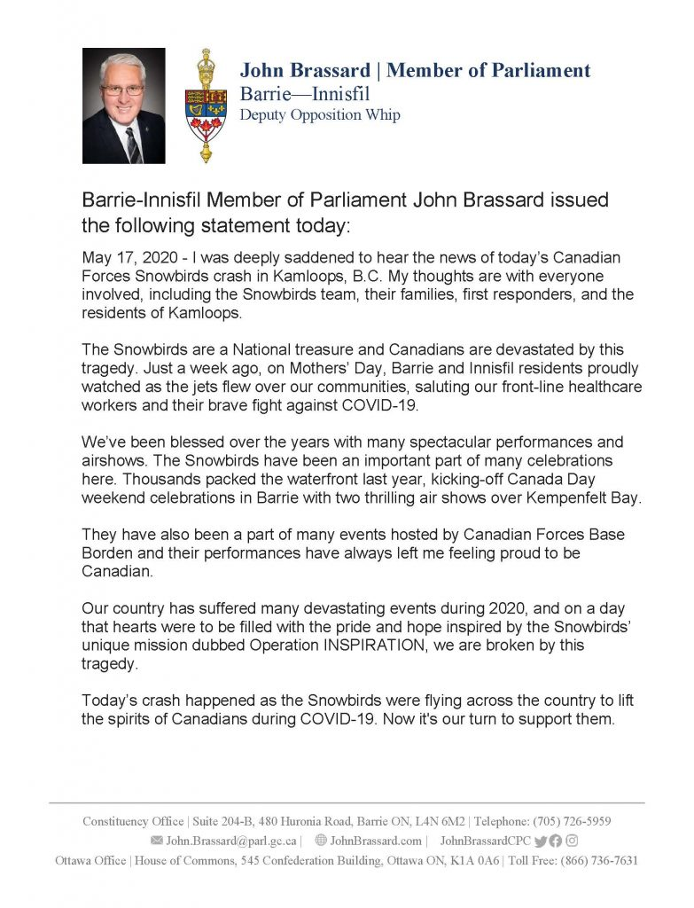 John Brassard – Page 4 – Member of Parliament for Barrie ...